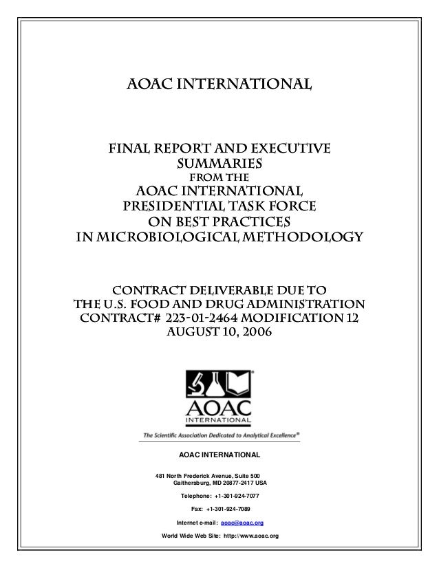 Aoac   practices for microbiological methodology - 2006[2]
