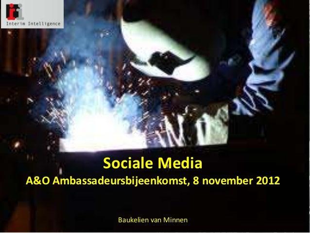 Sociale Media in de technische branche