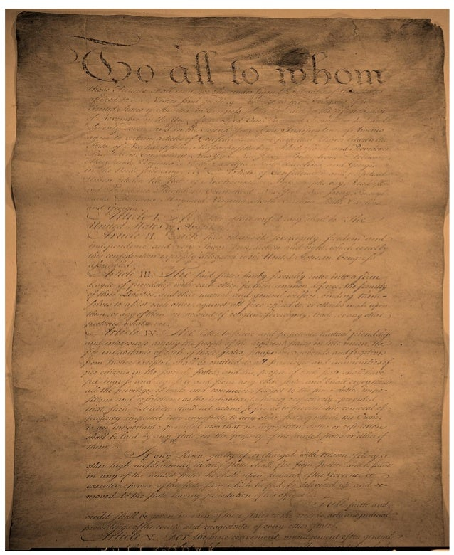 Articles Of Confederation of 1777