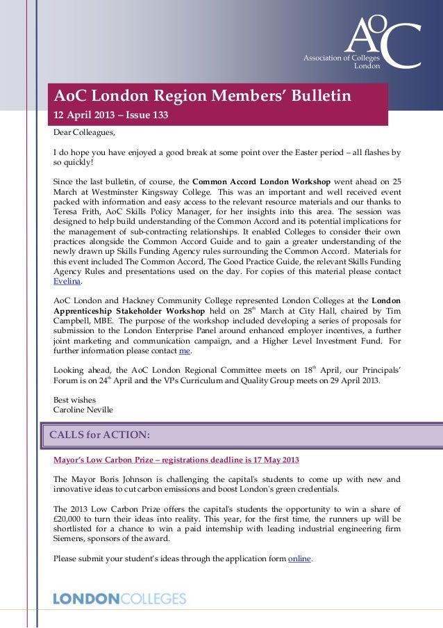AoC London members 133 Bulletin 130412
