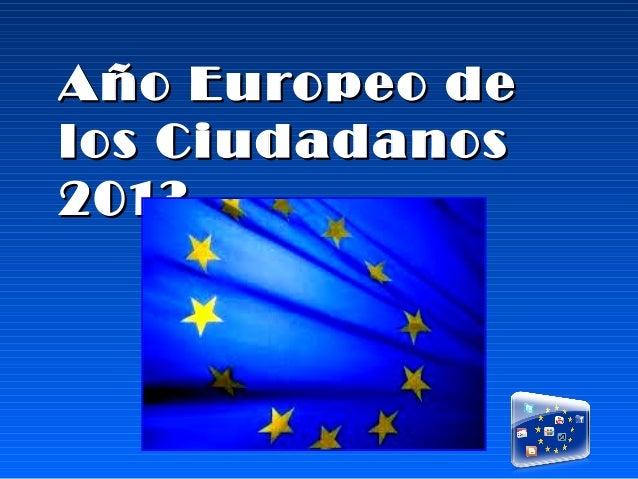 Año Europeo delos Ciudadanos2013