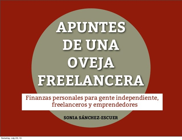 Finanzas personales para gente independiente, freelanceros y emprendedores