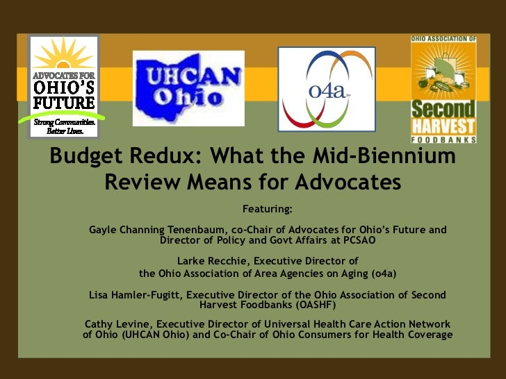 Budget Redux: What the Mid-Biennium    Review Means for Advocates                                 Featuring:   Gayle Chann...