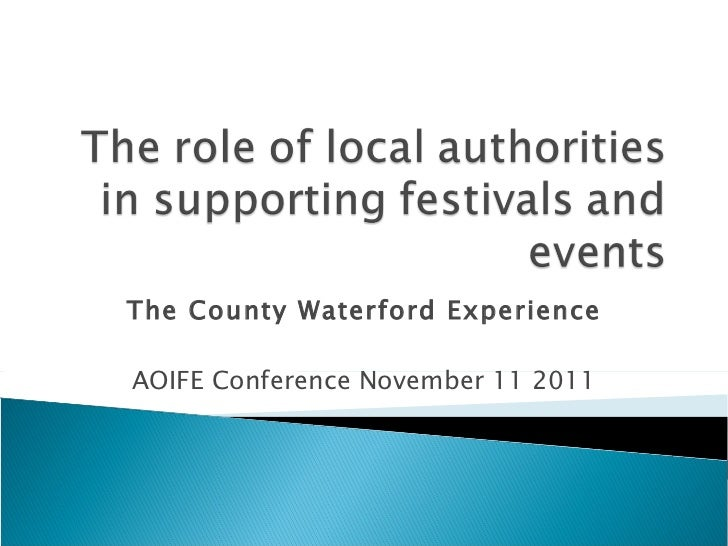 The County Waterford Experience AOIFE Conference November 11 2011
