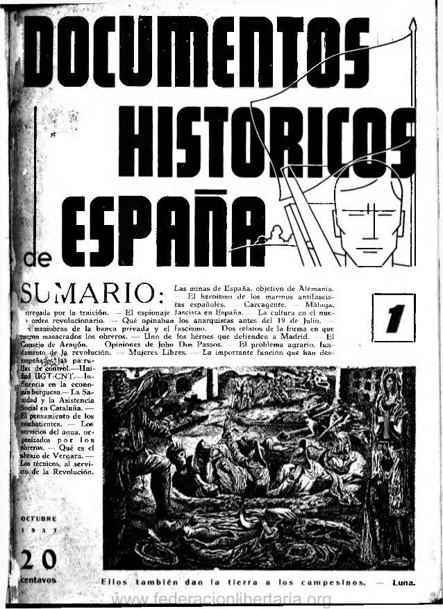 Documentos Históricos de España Año I, n° 01, octubre de 1937