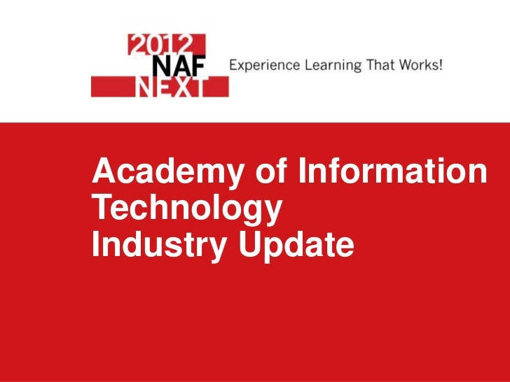 Academy of InformationTechnologyIndustry Update