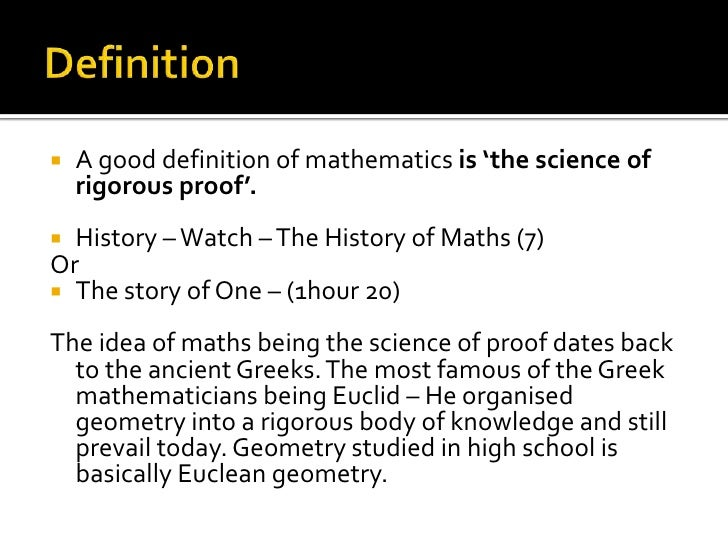 Reasoning most important way of knowing in maths and science?