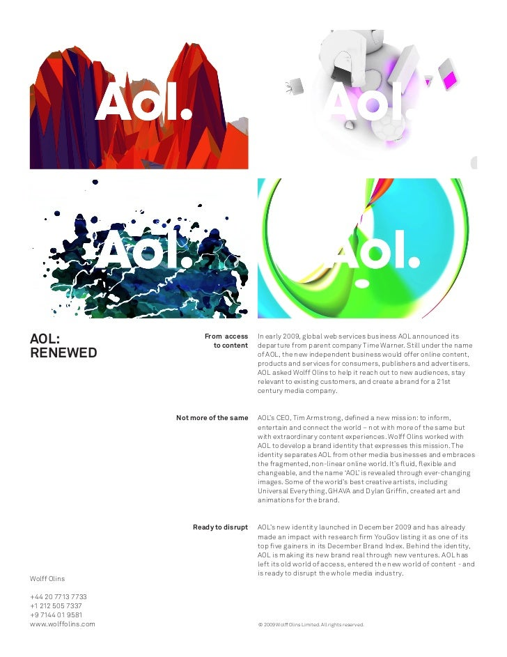 AOL:                        From access                               to content                                          ...