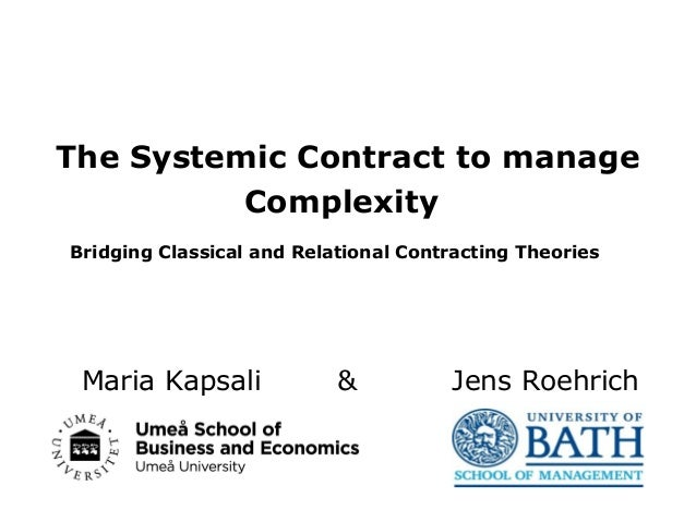 systemic contract Academy of Management 2013