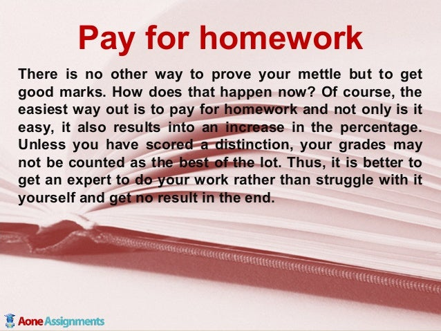 Pay to do homework