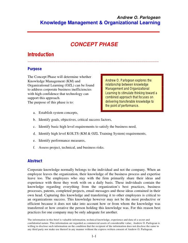 Knowledge Management & Organizational Learning
