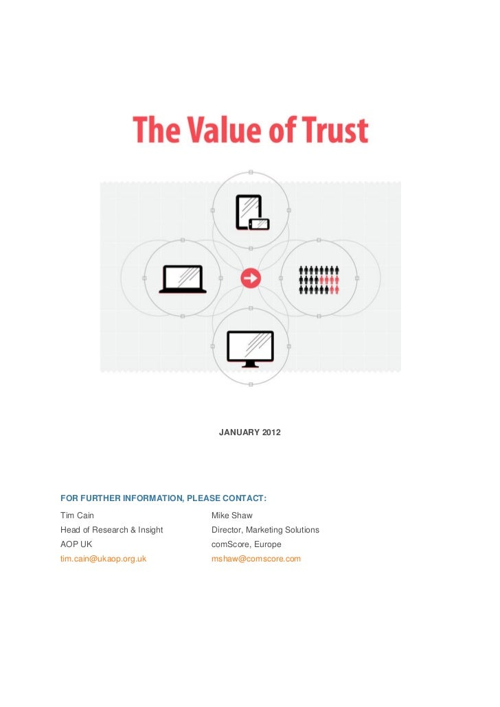 Aop Value of Trust Research Whitepaper