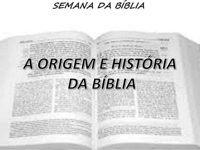   A Bíblia é um livro singular não apenas por séculos de história, mas sobretudo por ser a revelação de Deus aos homens. ...