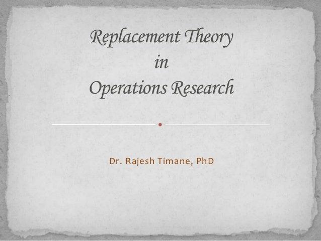 Dr. Rajesh Timane, PhD