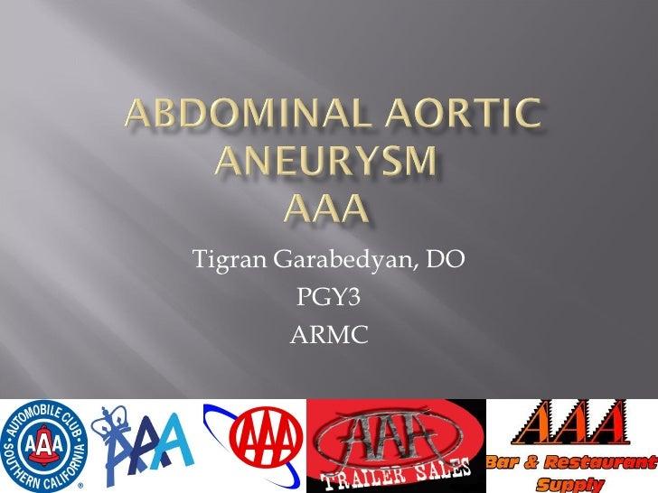 Tigran Garabedyan, DO PGY3 ARMC