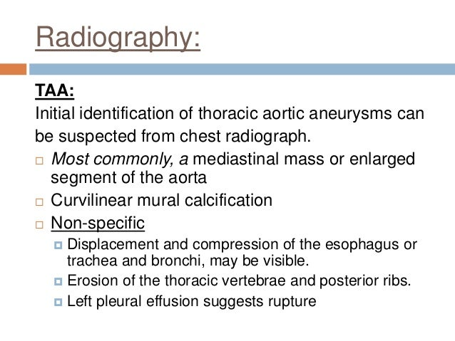 Aortic aneurysm imaging for Aortic mural calcification