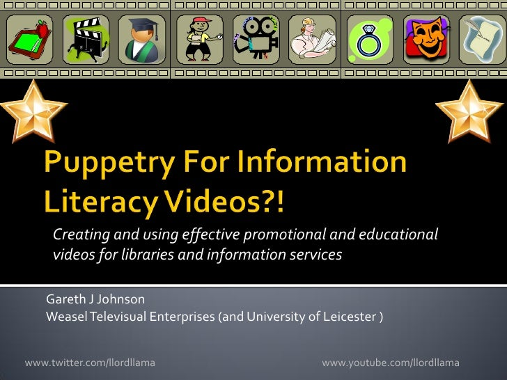 Puppetry For Information Literacy Videos?!