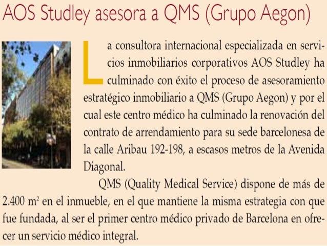 AOS Studley asesora a QMS Aegon - edición digital Observatorio Inmobiliario y de la Construcción - num 60 - Enero-Febrero 2013