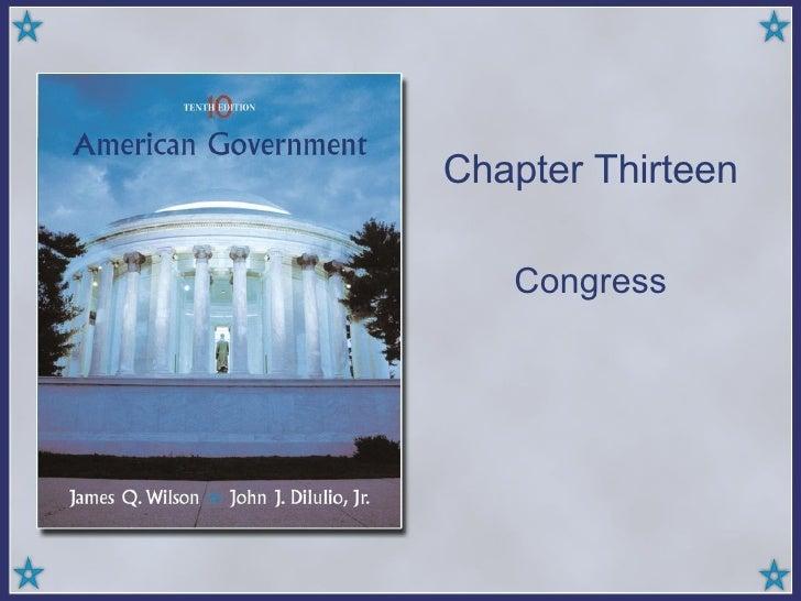 Chapter Thirteen Congress