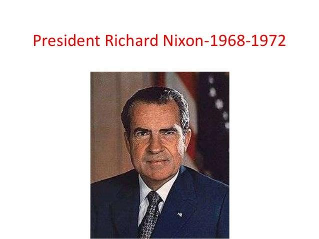 President Richard Nixon-1968-1972