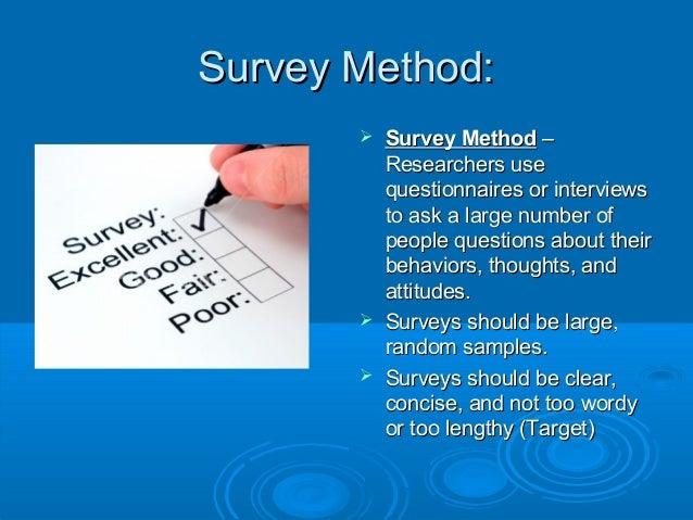 survey methods research
