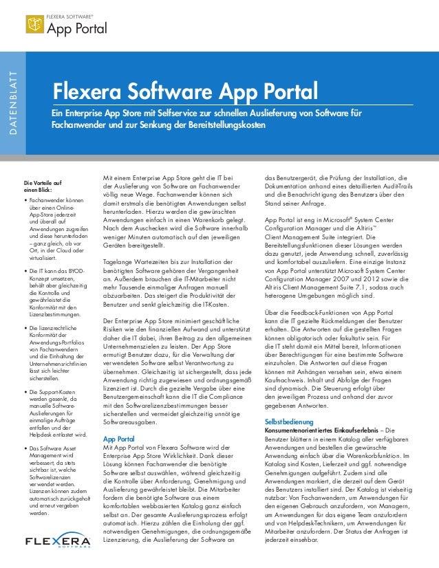 DATENBLATT Ein Enterprise App Store mit Selfservice zur schnellen Auslieferung von Software für Fachanwender und zur Senku...
