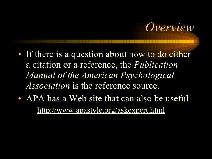 APA Format question?