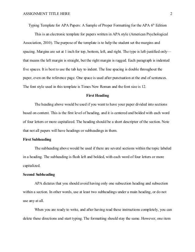apa 6th edition template word