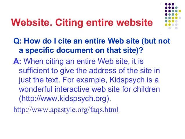 How do i cite apa