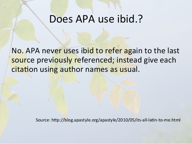 What Does Ibid Mean In A Research Paper - image 7