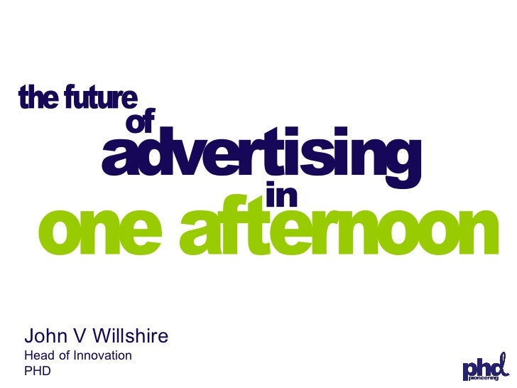 The Future of Advertising, APA, 17/02/09