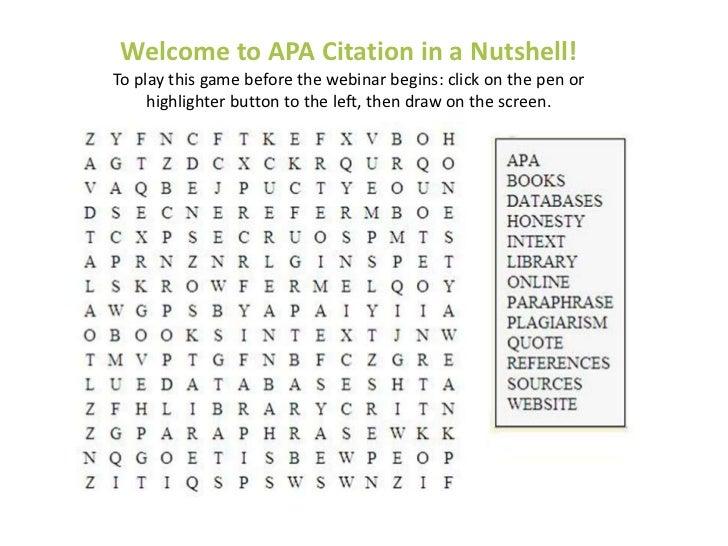 APA Citation in a Nutshell