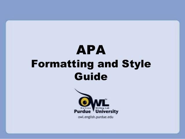 Apa 6th edition introduction