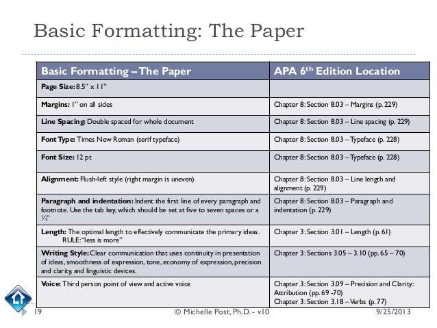 APA 6th Ed. Formatting
