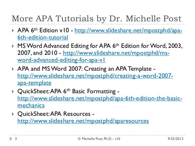 How To Reference Dissertation Apa 6Th Edition