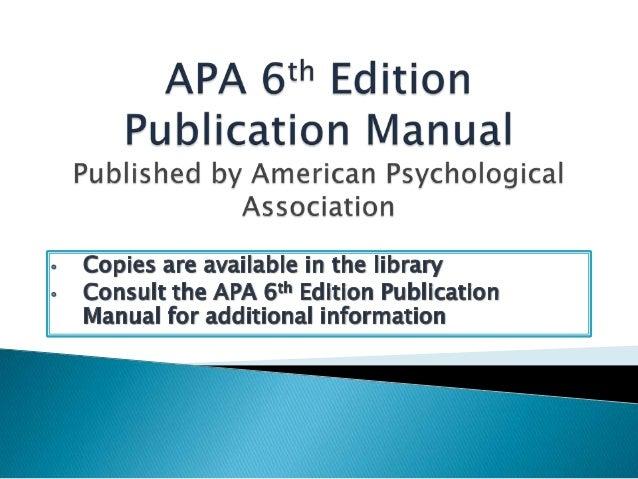 apa manual 6th edition download