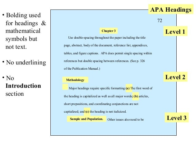 apa dissertation sections