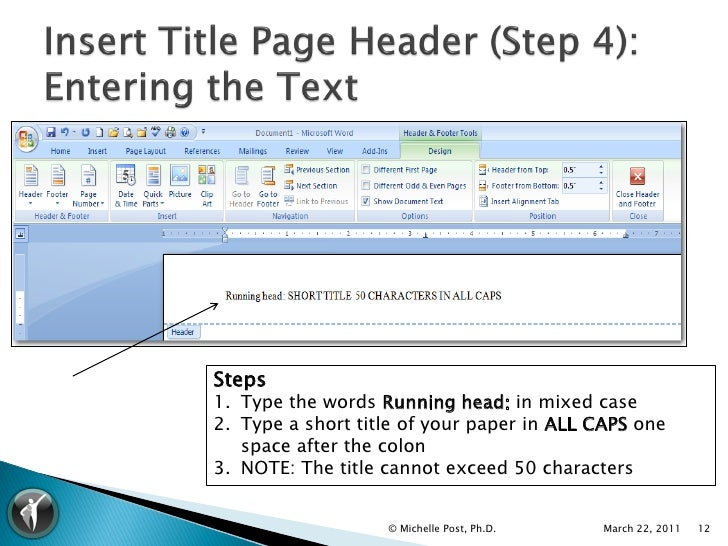Apa word template 1 for Office 2007 apa template