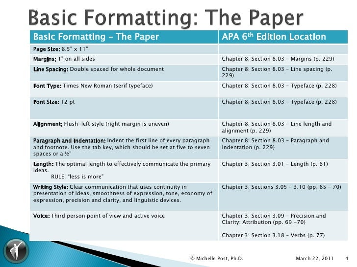 6th edition apa format