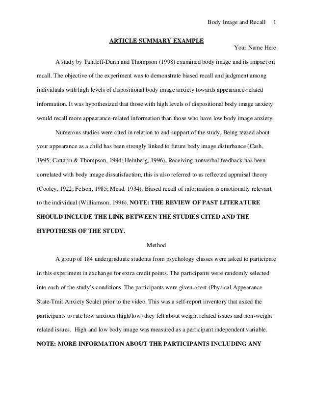 article essay format