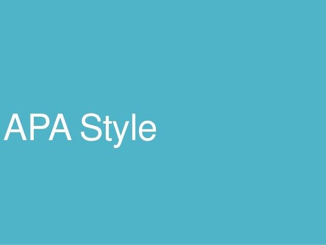 APA Basics 2014