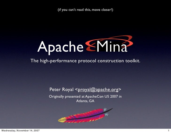 (if you can't read this, move closer!)                               Apache                      The high-performance prot...