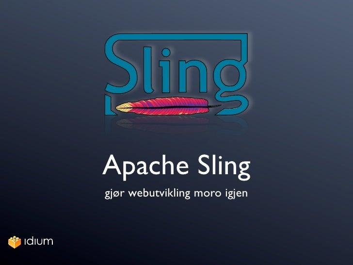 Apache Sling presentation at JavaZone 2009