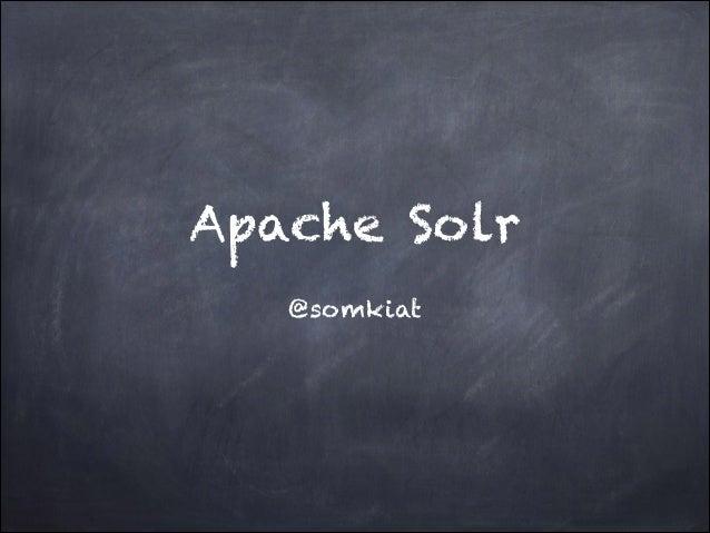 เกี่ยวกับ Apache solr 4.0