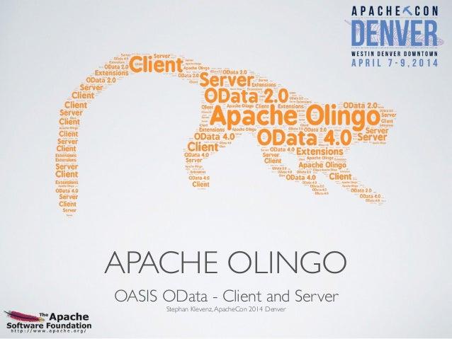 Apache Olingo - ApacheCon Denver 2014