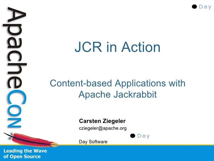 JCR In Action (ApacheCon EU 2008)