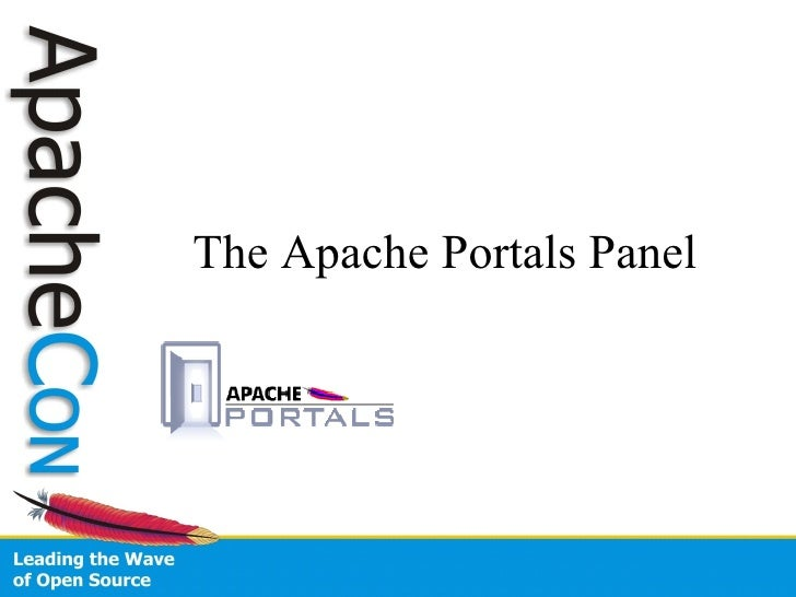 Apache Portals Panel (ApacheCon US 2007)
