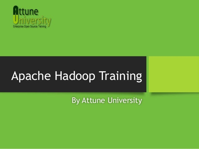 Apache Hadoop Training