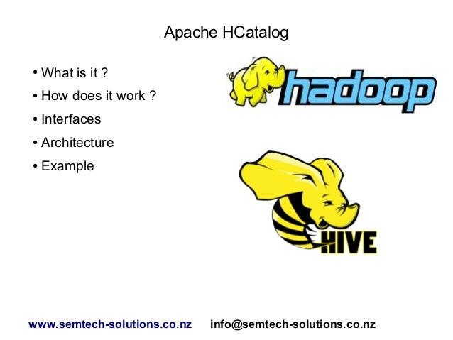 An introduction to Apache HCatalog