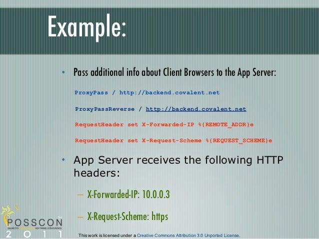 Configure Apache as a reverse proxy